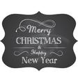 Chalkboard Christmas vector image vector image