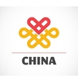 Chinese icon with element and heart vector image