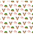 christmas background pattern icons vector image