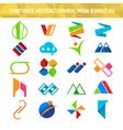 corporate abstract symbol mega bundle pack design vector image