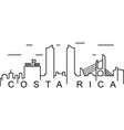 costa rica outline icon can be used for web logo vector image