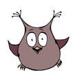 cute funny surprised amused puzzled owl bird vector image