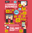 e-commerce and online shopping concept vector image vector image