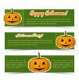 festive halloween horizontal banners vector image vector image