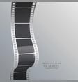 film reel strip background vector image vector image