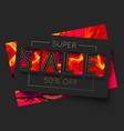 fire sale banner template design paper cut vector image vector image