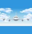 flight plane realistic 3d airplane flying in blue vector image
