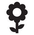 flower icon on white background flat style vector image vector image