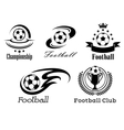 Football and soccer emblems or badges vector image vector image
