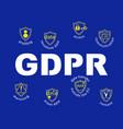 gdpr concept general data protection regulation t vector image