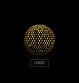 golden mosaic sphere vector image vector image
