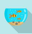 goldfish aquarium icon flat style vector image vector image