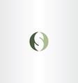 green logotype s letter logo s design vector image