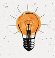 grunge with light bulb modern hipster sketch vector image vector image