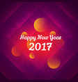 happy new year 2017 celebration design vector image vector image