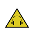 High noise levels warning sign headphones icon vector image