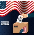 icon voting box election presidential graphic vector image vector image