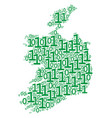 ireland republic map collage of binary digits vector image vector image