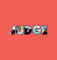 judge concept word art vector image vector image