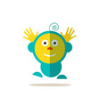 jumping baby funky flat avatar isolated vector image