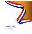 kings day template design vector image vector image
