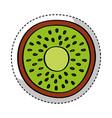 Kiwi fresh fruit drawing icon