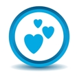 Love icon blue 3D vector image vector image
