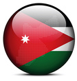 Map with Dot Pattern on flag button of Jordan vector image vector image