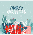 merry christmasgreeting card christmas square vector image