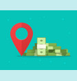 money finance place pointer marker isolated on vector image vector image