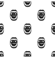 Mouth icon in black style isolated on white vector image vector image