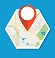 navigation geolocation icon vector image vector image