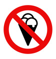 No eating sign vector image vector image