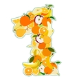 number 1 vector image