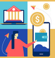 online banking - flat design style colorful vector image