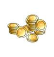 Pile heap of shiny gold coins money symbol