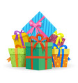 presents or gifts boxes vector image vector image