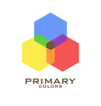 Primary color logo design template vector image