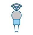 professional microphone transmit vector image