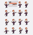 red hair businessman set of postures of the same vector image vector image