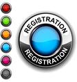 Registration button vector image vector image
