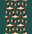 retro 50s chain seamless pattern simple wave vector image
