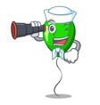 sailor with binocular green ballon with cartoon