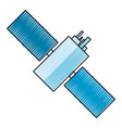 satellite space antenna vector image
