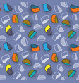 seamless pattern colorful pattern with 3d vector image vector image
