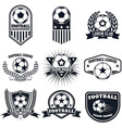 set football labels emblems and design vector image vector image
