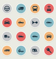 set of simple auto icons vector image vector image