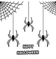 set of stylish paper spiders for halloween vector image vector image