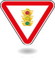 Sign light traffic vector image vector image