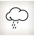 Silhouette cloud with the rain vector image